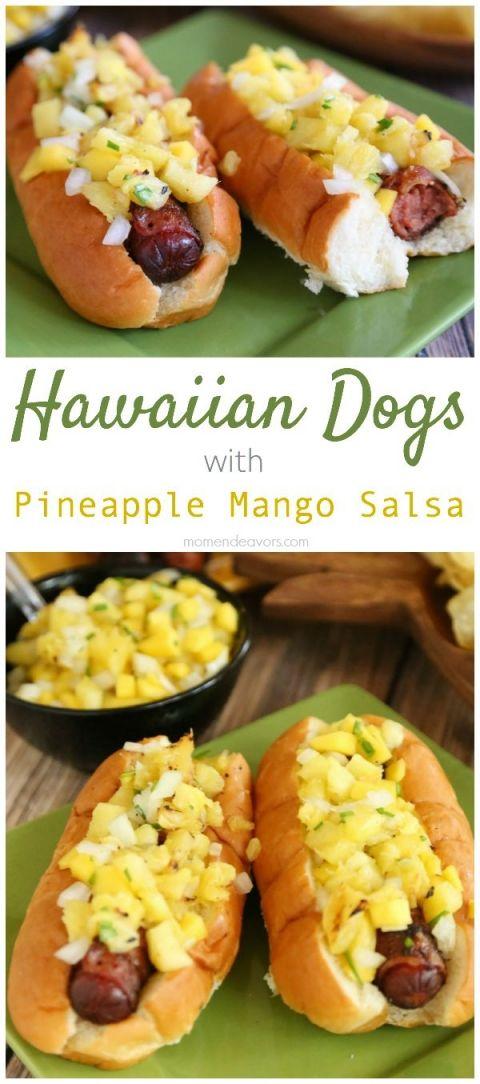 Completa la decoración de tu fiesta hawaiana con este tip. Utiliza fruta y comida para crear una mesa de colores exóticos. #party #hawaiana