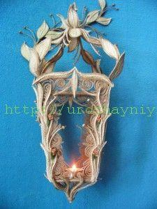 Декоративный фонарик из джутовых ниток своими руками. Мастер-класс