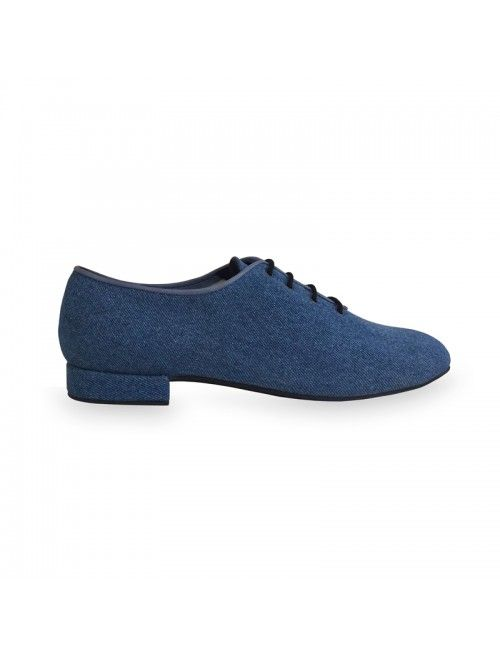 MARC | Zapato de baile de hombre en denim.  Made in Spain #baile #zapatosalsa #danceshoes #zapatosdebaile