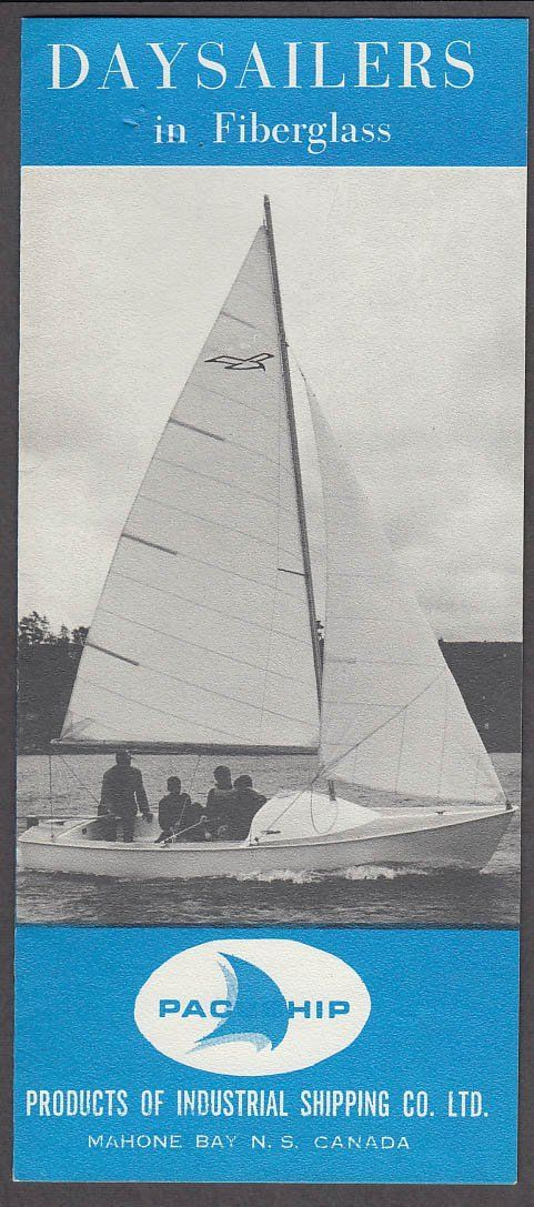 Paceship Fiberglass Sailboat sales folder ca 1960s Mouette Peregrine Flying Jr at Amazon's Entertainment Collectibles Store