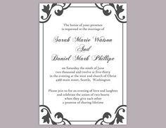 Best 25 Diy wedding invitations templates ideas only on Pinterest