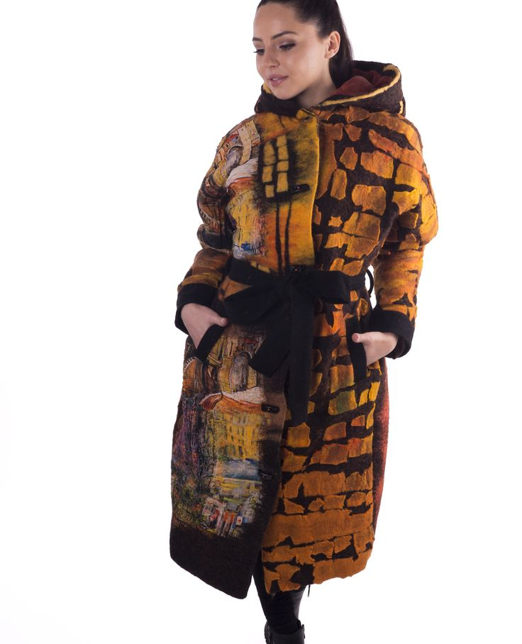 #handmade #wool #felted #coat #overcoat by Nadin Smo design