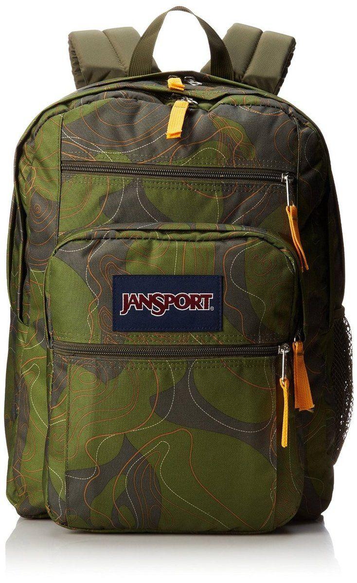 JANSPORT BIG STUDENT BACKPACK SCHOOL BAG - Green Machine ...