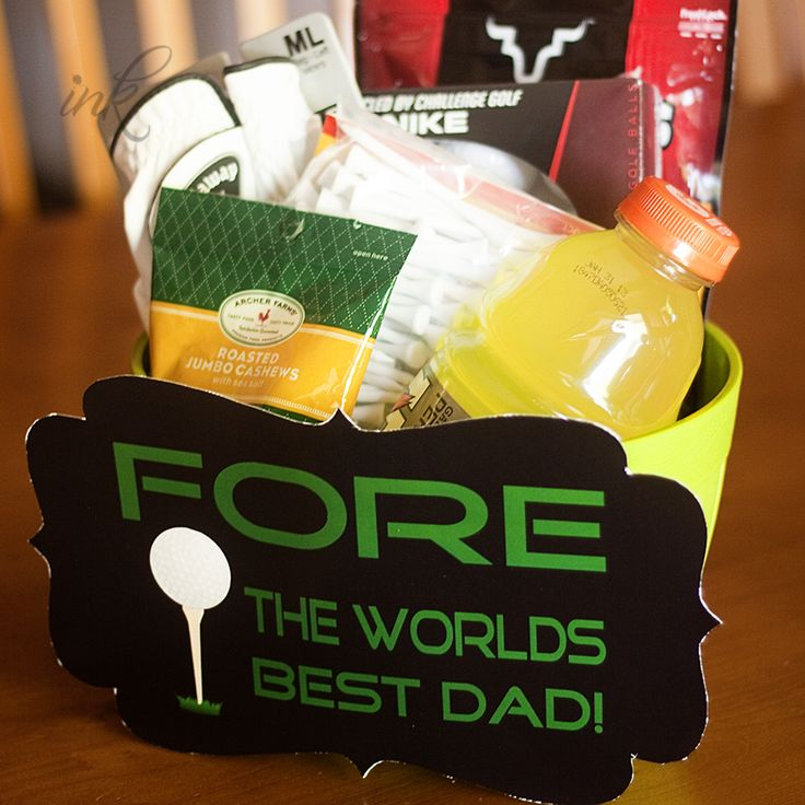 Fore the world's best dad! Golf & Fathers gift & free printable.