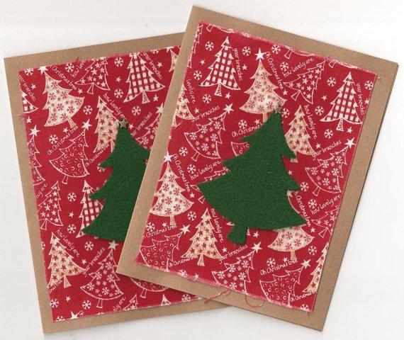 Fabric Christmas cards