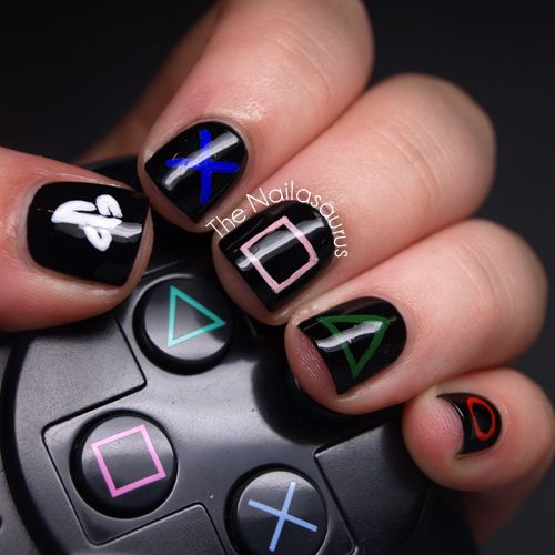 Playstation Nail Art