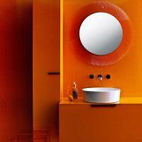 Laufen Kartell Tangerine Round Sunburst Mirror 780mm
