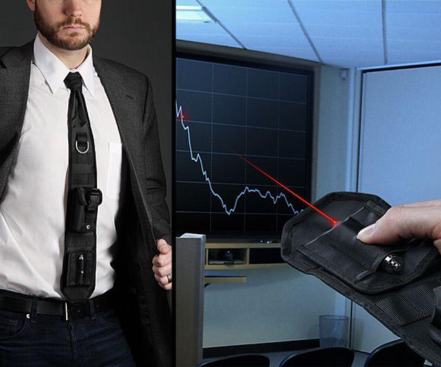 Laser Pointer Tactical Necktie | DudeIWantThat.com