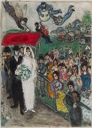 Marc Chagall, The Wedding, c. 1950   Harvard Art Museums/ Fogg Museum