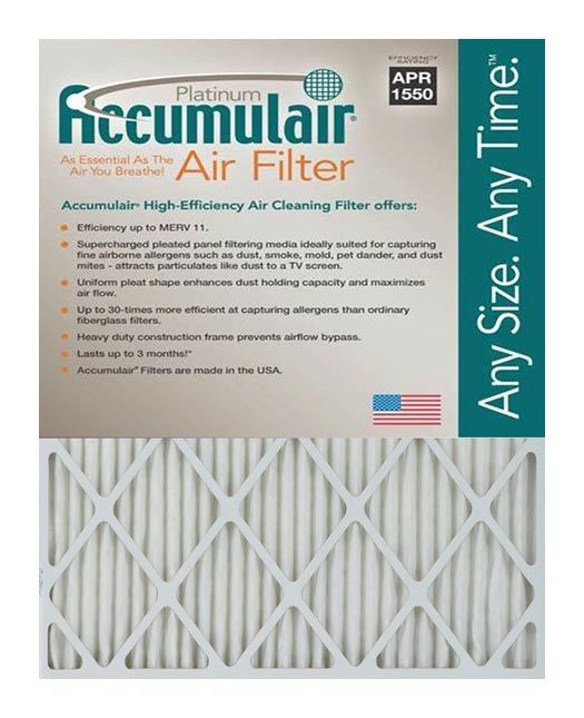 14x24x4 (13.5 x 23.5 x 3.75) Accumul air Platinum 4-Inch Filter
