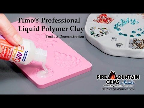 Video Tutorial - Fimo® Professional Liquid Polymer Clay - Fire Mountain Gems and…