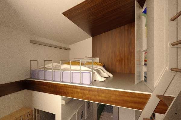Reset House loft by http://SteveHallArchitecture.com
