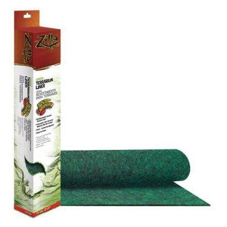 Zilla Reptile Terrarium Liner (17.5 inch L X 35.25 inch W; For 40-50 gallon Aquariums), Green