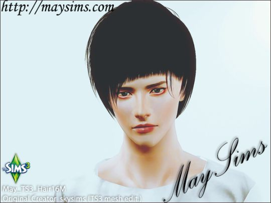 Mayims: 심즈3 헤어 (Sims 3 Hair) - May_TS3_Hair16M