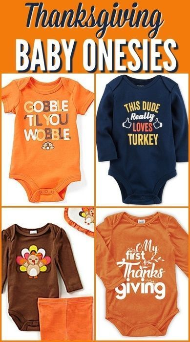 Beautiful Thanksgiving themed baby onesies for Baby's First Thanksgiving! #ad #thanksgiving #baby #onesie