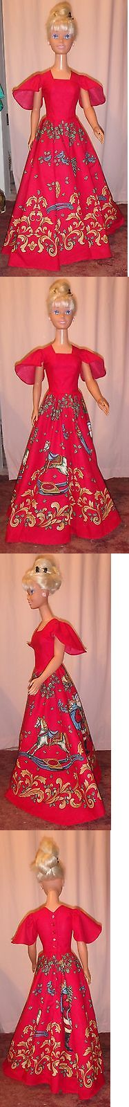 Custom Handmade Barbie Clothing: Red And Gold Christmas Gown With Sleigh Rides For My Size Barbie Myhx03 -> BUY IT NOW ONLY: $67.65 on eBay!