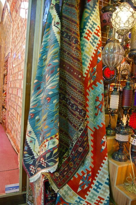 World Bazaar, Istanbul, Turkey ~ Kilim Rugs! I want them all!