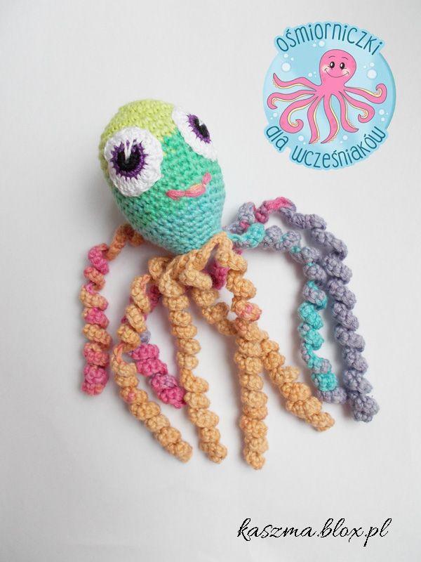 Kącik różności - Ośmiorniczki dla wcześniaków - Octopus for preemies - Crochet octopus