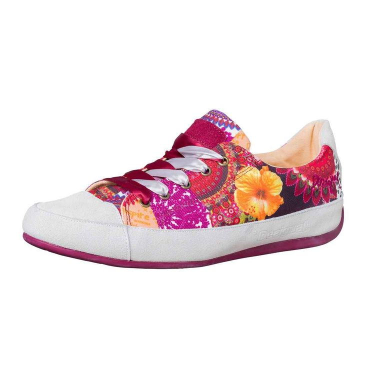 New Desigual Galaxy-Hand-Pinted Pink Trainers for Women Online