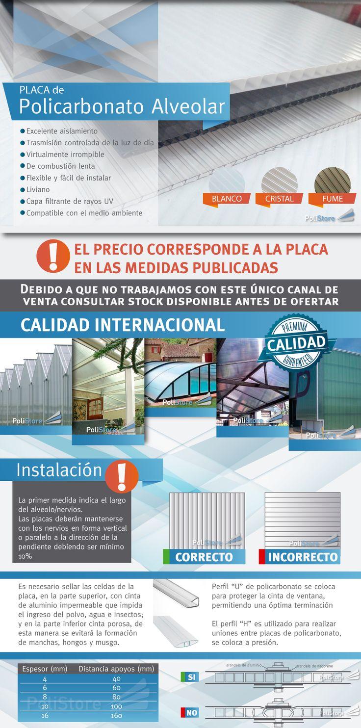 (1) Placa De Policarbonato Alveolar 10mm 5,80x2,10mts - $ 2.960,00 en Mercado Libre