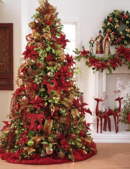 Christmas Decorating Trees!!! Bebe'!!! Lovely lime green and red festive holiday tree!!!