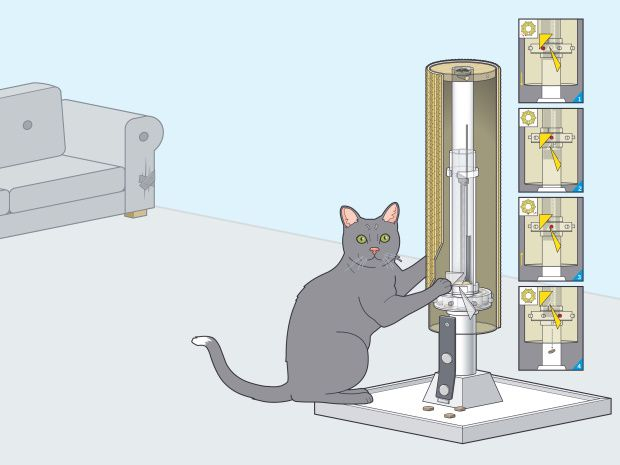 Cat Scratch Feeder http://makezine.com/projects/make-33/cat-scratch-feeder/