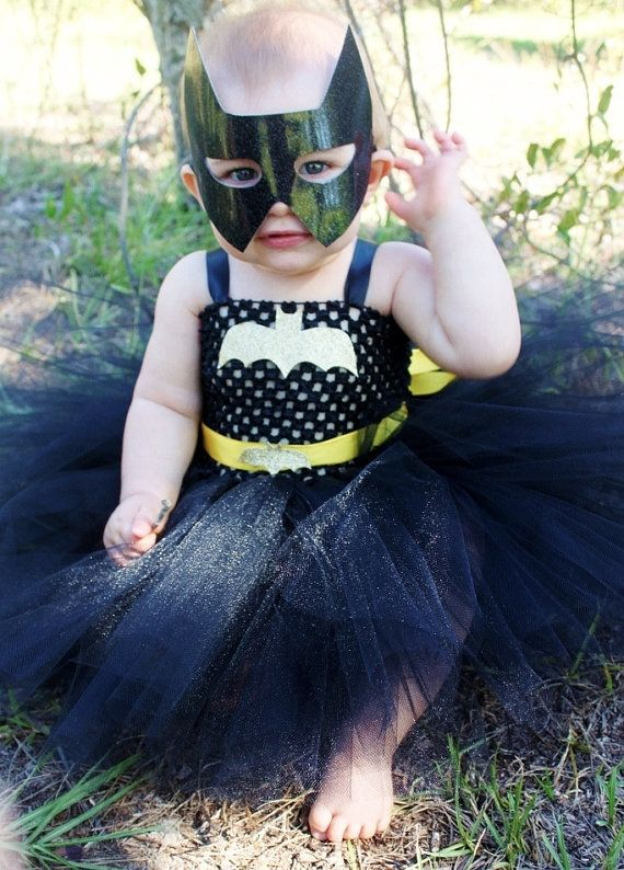 Cute idea I will have to try out.  The Batgirl Tutu Dress Halloween Costume Pageant by KutieTuties, $84.95