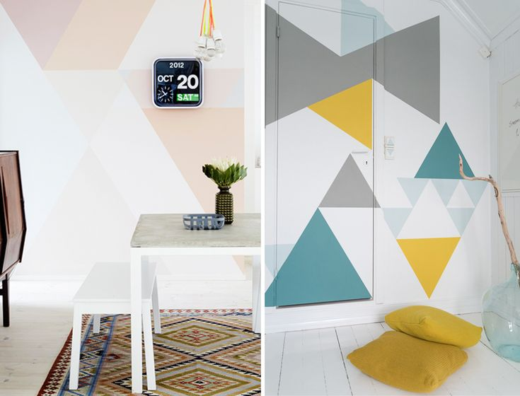 geometric walls painted
