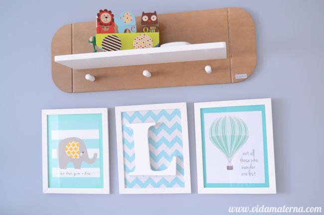 DIY - Quadrinho para quarto infantis - feitos pela Michelle do maravilhoso Blog Vida Materna