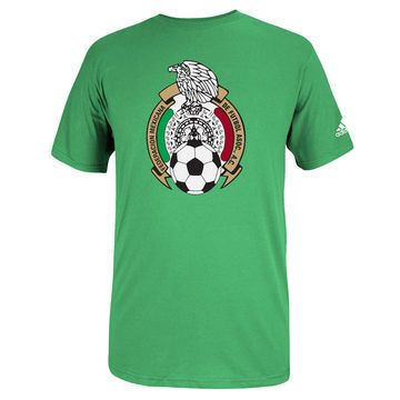 Men's adidas Green Mexico Futbol Crest T-Shirt