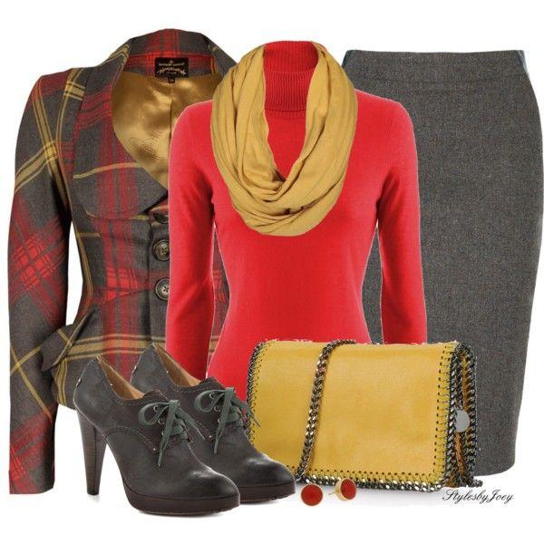 Tartan Plaid Blazer, created by stylesbyjoey on Polyvore