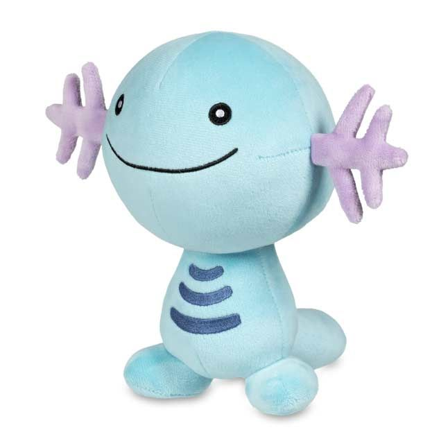 1efb8884 The official Wooper Poké Plush has an embroidered mouth, stripes, and eyes.  A Pokémon Center Original.