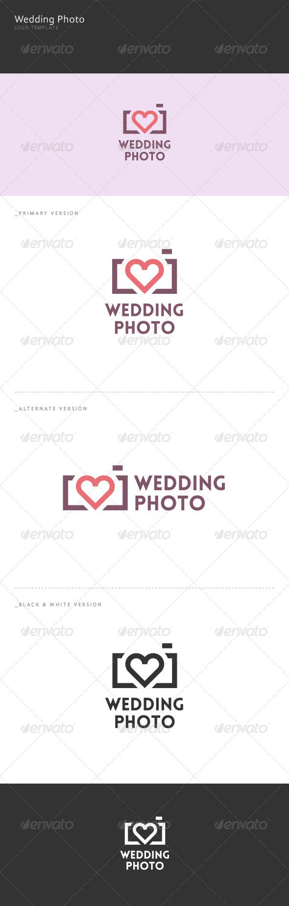 Wedding Photo Logo  #GraphicRiver         Wedding Photo: a logo that can be used by wedding photographers, web sites wedding photographs, software and applications, among other uses. Its design is very simple and is easy to configure. This ready to print.    Customizable 100%   CMYK   AI – EPS – PSD   Font used Lovelo   If you need a unique logo design could contact me here You can also find more logos in domibit and domibit2     Created: 5November13 GraphicsFilesIncluded: PhotoshopPSD…