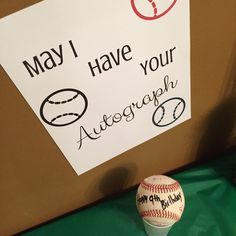 This indoor sports party is sure to be a hit! Baseball Autograph. With an activity for football, baseball, soccer, and basketball. A great birthday party theme for all ages.