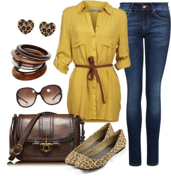 """""""Mustard & Leopard"""" by charleneanais on Polyvore"""