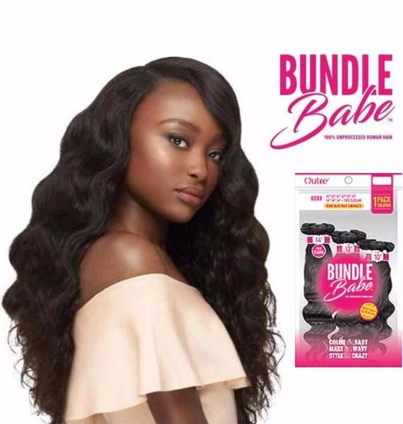 BUNDLE BABE - BODY WAVE BUNDLE 100% HUMAN WEAVE HAIR EXTENSIONS BY OUTRE