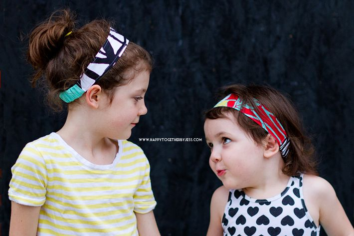 Free Kid Size Double Sided Fabric Headband Pattern   happy together