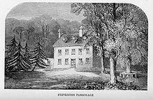 Steventon rectory, which is no longer standing. Jane was born in Steventon