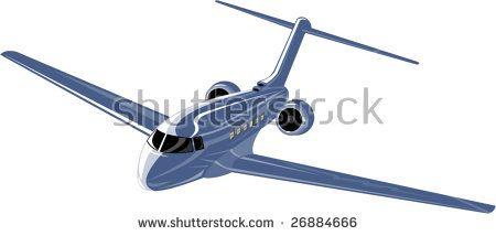 Light commercial plane #commercialplane #airplane #retro #illustration