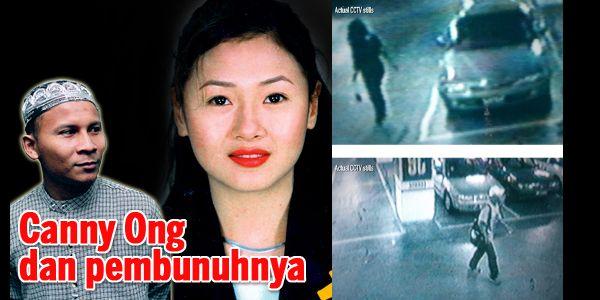 Imbasan pembunuhan kejam Canny Ong yang gemparkan negara   Canny Ong Lay Kian (18 Julai 1975  14 Jun 2003) atau Canny Ong adalah wanita mangsa pembunuhan kejam pada 13 Jun 2003 mati dibakar di sebuah lubang / longkang di tapak pembinaan Projek Lebuh Raya Pantai Baru Petaling Jaya pada 17 Jun 2003. Canny Ong adalah pemegang tali pinggang hitam seni mempertahankan diri.  Canny Ong  Biodata:  Canny Ong dilahirkan pada 18 Julai 1975 di Ipoh Perak adalah warga Malaysia yang bekerja sebagai…
