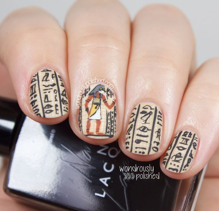 The Digital Dozen does Countries & Cultures - Day 1: Egyptian Hieroglyphic Nail Art