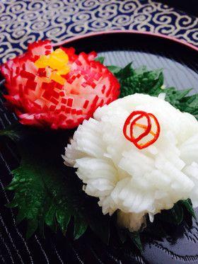 おせちに◎紅白菊花かぶ
