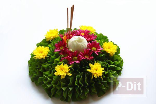 กระทงใบตองสวยๆ ประด บดอกไม ส สดใส การจ ดดอกไม งานฝ ม อ งานแต งงาน
