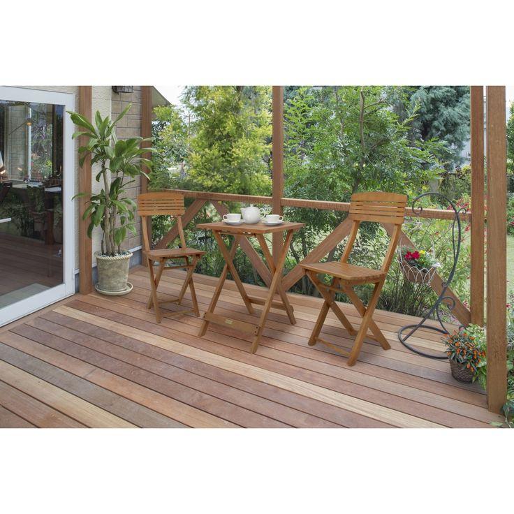 ガーデンフォールディングテーブル 3点セット