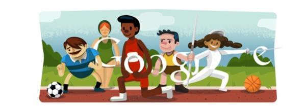 Cerimonia d'apertura Olimpiadi: Doodle di Google per Londra 2012
