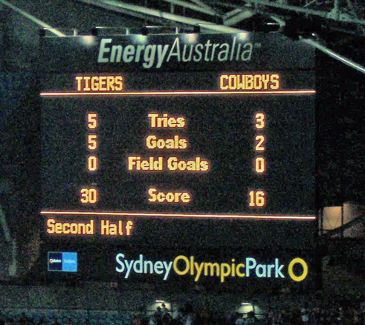 NRL 2005 Grand Final Scoreboard