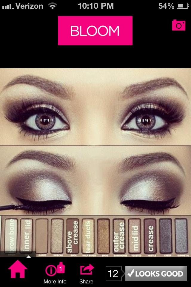 Smokey brown eyes