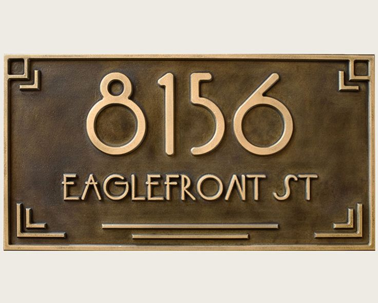 14 best modern house numbers by bold mfg images on for Location plaque garage