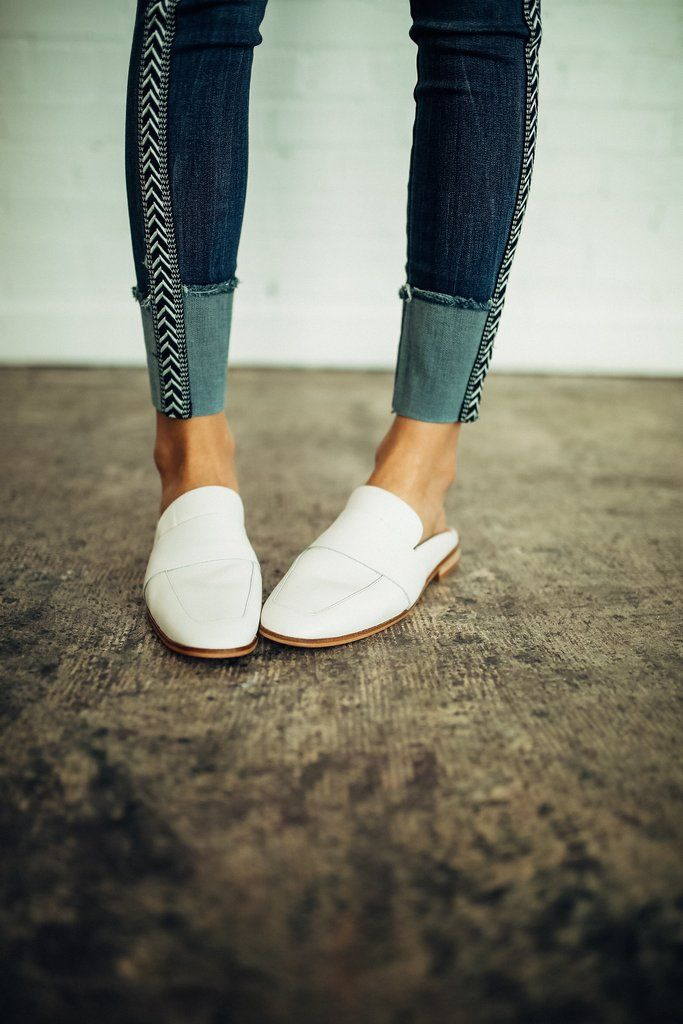 9ff8e1bf851 Free People At Ease Loafer in White Leather