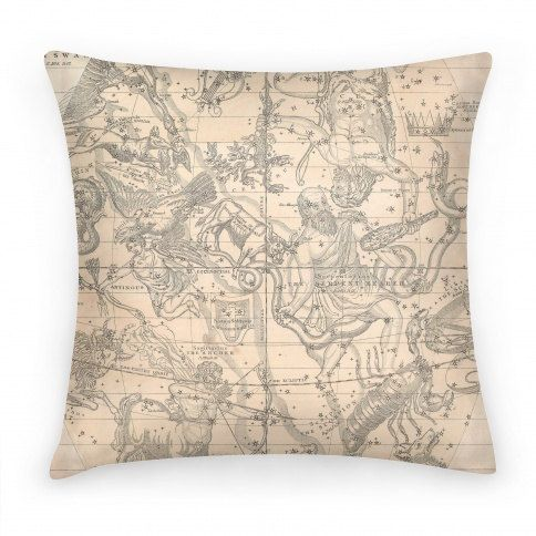 Vintage Inspired Throw Pillows : Vintage Inspired Constellation Map Throw Pillow by ShopNightingale, $30.00 Decorating ...